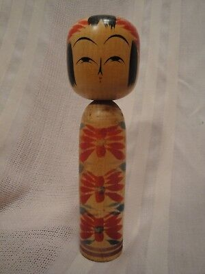 Cute Japanese Vintage Signed Kokeshi Doll in Original Box