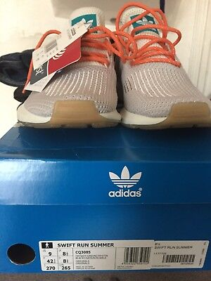 huge selection of 3669c 8408f Adidas Originals Swift Run Summer Sneakers In White CQ3085 Mens SIZE US9