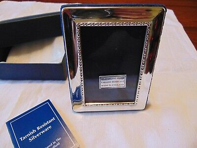 Solid Silver Carrs Photo Frame Sheffield 1998 Boxed Unused Nr