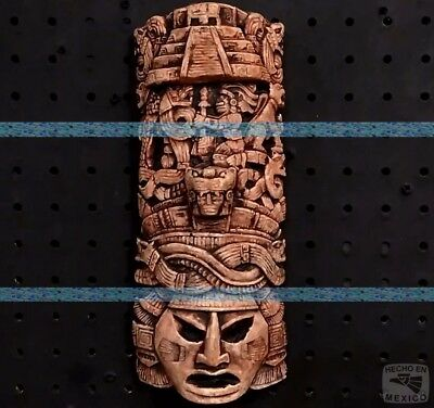 Maya Mask Head Aztec Plaque Mayan Sculpture Statue Ancient Aliens Calendar Art