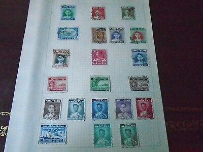 Siam/Thailand old stamp collection hinged on page