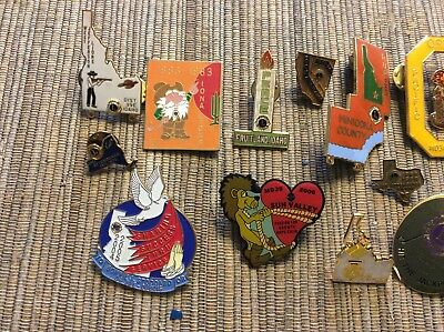 LOT OF 24 VINTAGE LIONS CLUB JEWELRY PINs- Brooches Idaho Oregon Asst Chapters