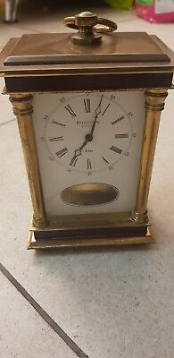 Vintage Brass Carriage Clock phaeton by acctim sss marke 8 day chiming