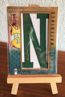 Kevin DURANT RC Rookie Auto Patch Fleer Hot Prospects