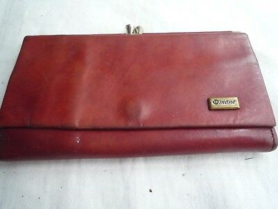 Vintage Leather Purse  Hand Made