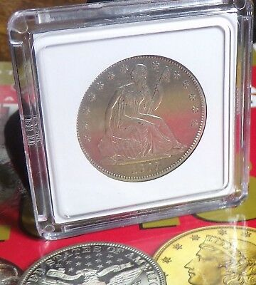 1877 S Seated Liberty  Half Dollar Reflective surfaces, great details, AU++