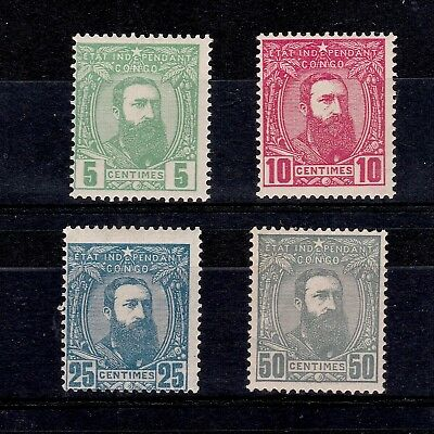 Belgian Congo 1887 Selected King Leopold Ii Stamps Mint/mnh To 50 Centimes