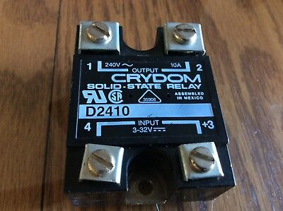 CRYDOM Solid State Relay - - 10 amp MAX - - 250V Max. - - 10A - - DC AC SS relay