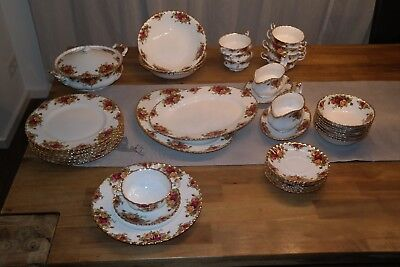 Porzellan Royal Albert China-England-Old Country Roses Speise- und Kaffeeservice