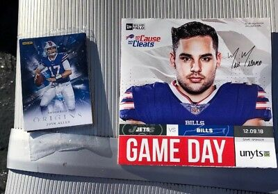 32ccaf853 BUFFALO BILLS GAMEDAY Program MATT MILANO BUFFALO VS NY JETS 12 9 18 ...