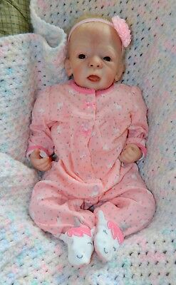 Reborn Lyly Rose by Betty Morel HTF LE sweet baby doll glass eyes life like