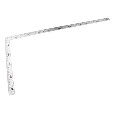 Square Stainless Steel Measuring Ruler Precision Engineer Carpenter Tool 1Pc