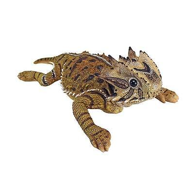 Texas Desert Horned Lizard Hand Painted Statue Bearded Dragon Toad Frog