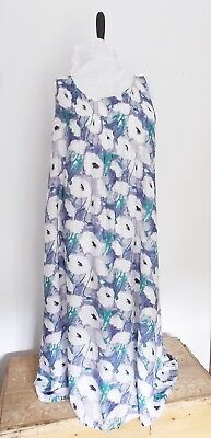 Ladies sleeveless long maxi dress blue white 20  XXL  Plus size