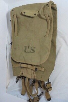 WWI  US Army M1910 Haversack Pack - Khaki Color Marked L-D Inc. 8-18