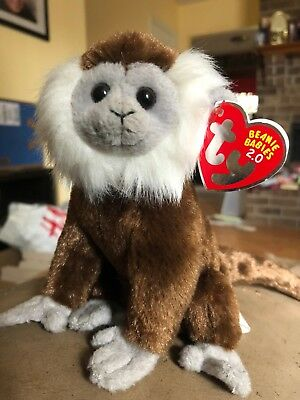 "Ty Jungle The 2.0 Beanie Monkey - 6"" Long - Unused Code- 2008 -Mwmt"