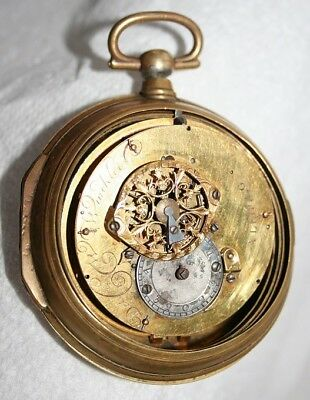 Antique pocket watch Fusee movement in double case, Det C WinKler, A LEIPZIG