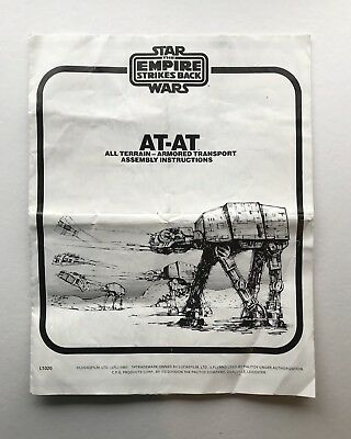 Vintage Star Wars AT-AT Instructions Empire Strikes Back Palitoy Imperial Walker