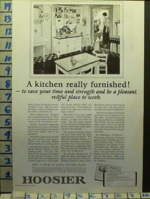 1923 Hoosier Kitchen Woman Cook Wife Home Decor Furniture Vintage Ad  Ah23