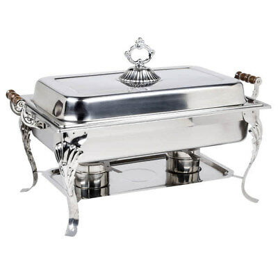 2PACK Catering Classic Stainless Steel Chafer Chafing Dish Set 8 QT Buffet Full