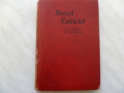 Royal Enfield Vintage Instruction Service Book By C.a.e. Booker 1951 Classic