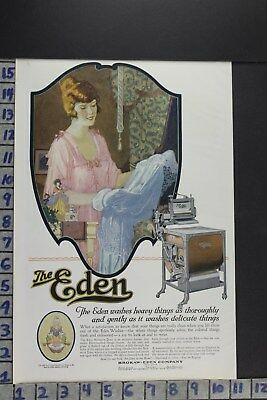 1920 Household Eden Washing Machine Fashion Linens Laundry Vintage Ad Ec003