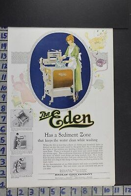 1920 Household Eden Washing Machine Laundry Linens Clothes Vintage Ad Ec004