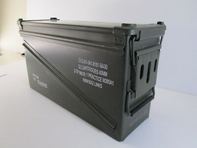 Military Surplus 40mm Large AMMO BOX or Ammo Can Steel Excellent Condition