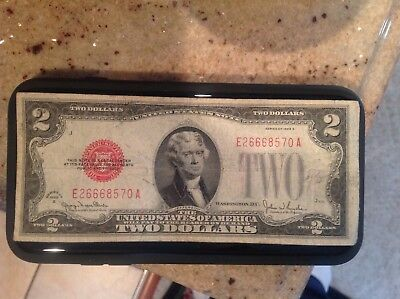 1928 Series G  $2 Two Dollar Bill Red Seal Note Money