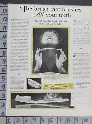1926 Dentistry Medical Prophylactic Tooth Brush Health Care Vintage Ad Dv03