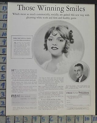 1926 Dental Medical Pepsodent Toothpaste Health Beauty Vintage Ad Cj2