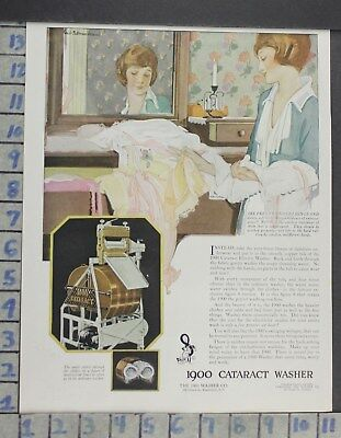 1921 Home Decor Laundry Room 1900 Cataract Washer Illus Marsh Vintage Ad Cp9
