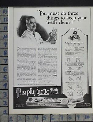 1923 Dental Medical Prophylactic Tooth Brush Dentist Health Vintage Ad Dl99