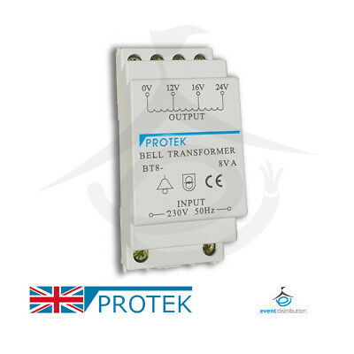 PROTEK Bell Transformer 24V For Nest & Ring Door Bell Compatible Din Rail Mount