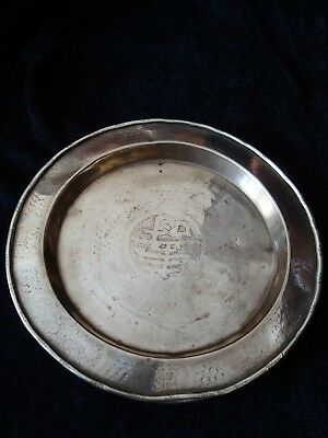 Antique Chinese  Brass Plate-Tray