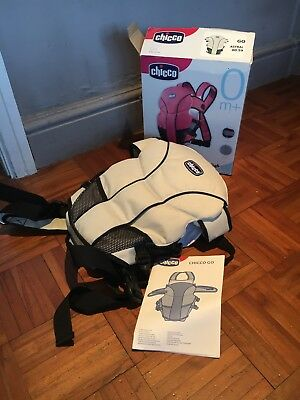 Chicco go baby carrier Astral Suitable From Birth Beige Blk Only Used Once