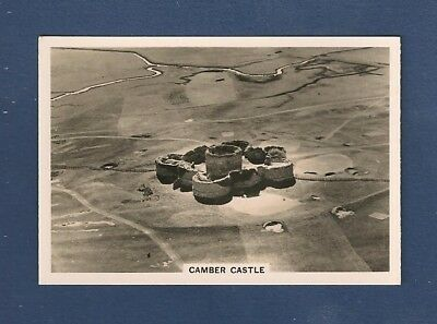 CAMBER CASTLE formerly Winchelsea Castle SUSSEX original 1939 aerial photo card