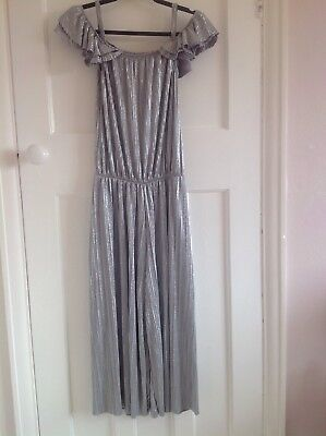 Next Age 13 Silver Cold Shoulder Effect Jumpsuit Perfect For Christmas