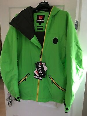 Quiksilver Ski Snowboard Jacket Premium Collection 10,000mm BNWT RRP £240 Small