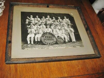 "Vintage Boys Band Read School Oshkosh, Wi Framed Picture 18.5"" X 15.5"""