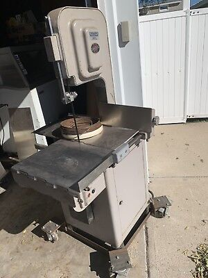 Hobart commercial meat saw model 5 313 with nice cart.