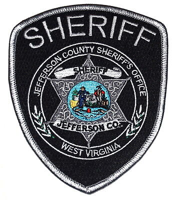 JEFFERSON COUNTY WEST VIRGINIA WV Sheriff Police Patch STATE SEAL MINER STAR ~