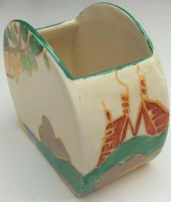 Clarice Cliff Bizarre Stamford Green Secrets Pattern Sugar Bowl