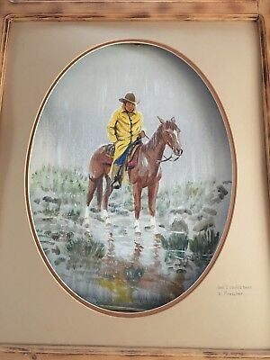 """Fred Deaver """"and I could'a been a preacher"""" 15""""x 20"""" original painting 1984"""