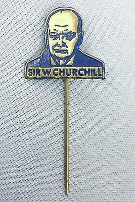Circa 1945 British Prime Minister Winston Churchill Victory Pin WW II Britain