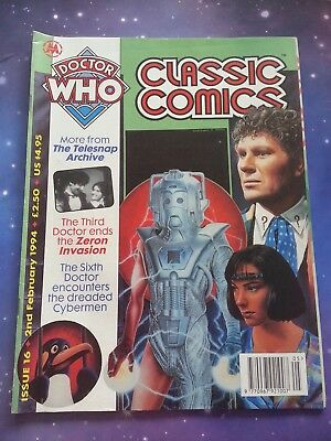 Doctor Who Magazine Classic Comics Issue 16 Vintage Dwm Cybermen 6Th Dr