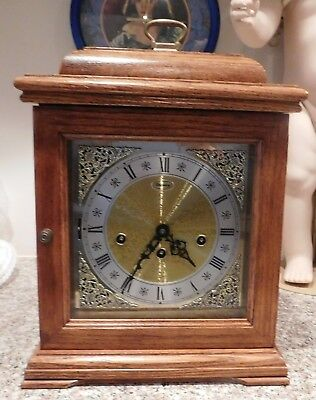 Ridgeway M-8 Westminster Chime Shelf Bracket Clock Franz Hermle Movement 340-020