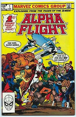 ALPHA FLIGHT #1 MARVEL Aug 1983 9.4 NM OWW 1st App PUCK & MARRINA John BYRNE Art