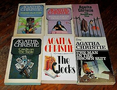 Lot of 6 Agatha Christie Vintage Paperbacks All different titles. Nice Condition