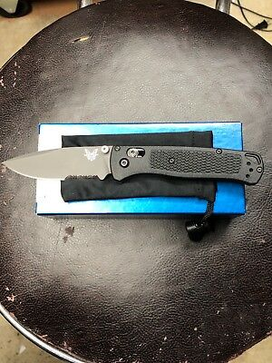 benchmade bugout 535 GRY-1 gray coated combo edge blade